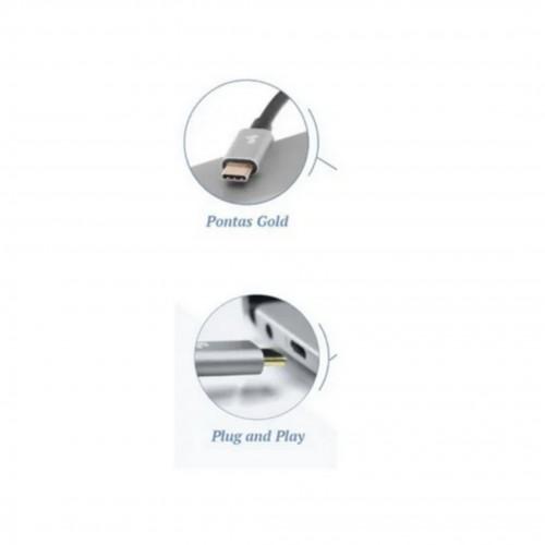 Cabo Type-c Usbc X HDMI Macho 4k com 1.80m para New Macbook Air e New Macbook Pro