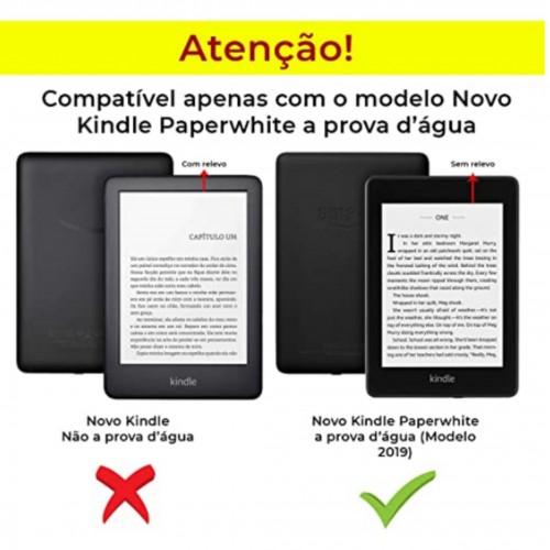 Capa Couro Sintético Hibernação Kindle Pq94wi 10ª Geração Paperwhite - Verde Agua